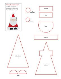 Stampin' with Irina: Good Findings: Triangle Santa Card