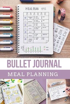 21 Creative Bullet Journal Meal Plan Ideas {to keep you organized and well fed!} Trying to figure out how to eat healthy and save money on groceries? You need a Bullet Journal meal plan tracker in your life!