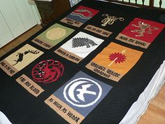 AMAZING!!! Game of Thrones knitted blanket. And the pattern is free on Ravelry. Definitely going into my bucket list of things to knit someday.