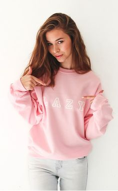 - Description Details: Get cozy in our super cute 'Lazy' oversized sweater in classic pink. Measuerements: (Size Guide) XS/S: bust, length, 3 Lazy Day Outfits, Pink Outfits, Casual Outfits, Cute Outfits, Cute Fashion, Teen Fashion, Cute Sweaters, Pink Sweater, Passion For Fashion