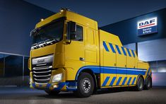 Download wallpapers DAF XF, service truck, tow truck, road service, DAF