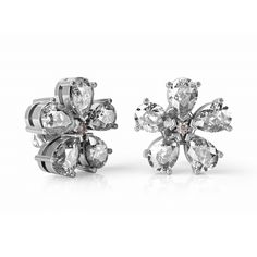Magnolia diamond stud earrings, pink and clear diamonds in white gold. Magnolia Trees, Magnolia Flower, Magnolia Jewelry, Diamond Jewelry, Diamond Stud, Fine Jewelry, Jewellery, Jewelry Collection, White Gold