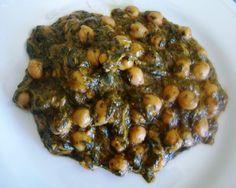 Asopaipas. Recetas de Cocina Casera .: Espinacas con Garbanzos II