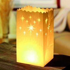 Licht-Tüte Hochzeit Stern, groß, 10 Stück