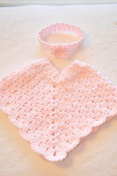Baby Poncho 6-12 month or 12-24 month Headband by DeloreyDesigns