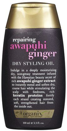 Made with ginger plant extract and strengthening keratin protein to give hair a shiny smooth finish (and stimulate the scalp)