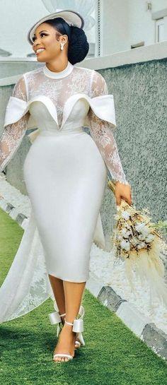 Bridal Outfits, Dress Outfits, Custom Wedding Dress, Wedding Dresses, Emergency Care, Civil Wedding, Ankara Dress, Wedding Looks, Classy Dress