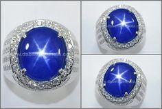 Natural No Heat Royal Blue SAFIR Star - SPS 244
