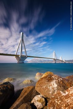 ~~Rio Antirio Bridge ~ Greece by Stelios Kritikakis~~