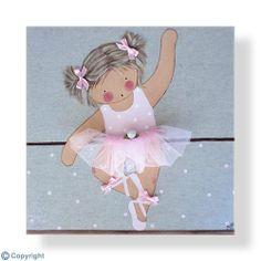 Cuadro infantil personalizado: Niña bailarina (ref. 12034-02)