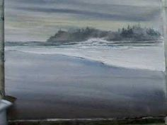 painting wet sand - YouTube