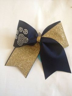 Cheer bow,Black and gold. Lets go tigers