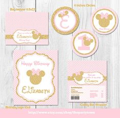 Pink and Gold Minnie Mouse Birthday Party Package by ThePartyTown