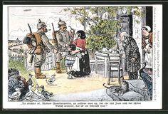 carte postale ancienne: CPA Illustrateur Heinrich Zille: Soldaten verabschieden…