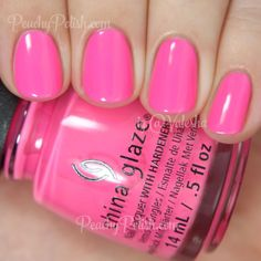 China Glaze Glow With The Flow   Summer 2015 Electric Nights Collection   Peachy Polish
