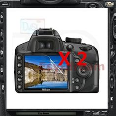 2pcs High Quality LCD Display Screen Film Protector For Nikon D3100 D3200 D3300 D3400