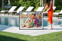 Poolside fun with a Greg Lotus photograph Hamptons Decor, The Hamptons, Lotus, Watermelon, Photograph, Fine Art, American, Prints, Fun