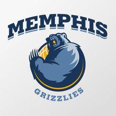 Memphis Grizzlies identity concept by Yu Masuda, via Behance