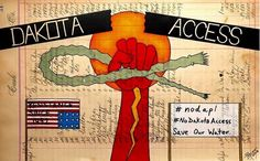 "Art by John Isaiah Pepion www.johnisaiahpepion.com ""After seeing the pictures and news every day I wish I could be there with you all at the peaceful protest in Standing Rock, North Dakota. I stand with you plus my prayers are with you. Water is life and a human issue. I'm concerned for my daughter, nephews, nieces, also the future of our drinking water. Like the youth of Standing Rock say: 'You can't drink oil.""  ""#pepionledgerart #blackfeetartist"