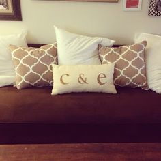 etsy initial pillows