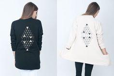 Triangle-Print Jacket by Mary Meyer - I wish it was still available! Triangle Love, Triangle Print, Triangle Pattern, Print Jacket, Triangles, Bomber Jacket, Mary, Tunic Tops, Craft Ideas