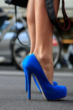 Amazing blue colored shoes in my favorite, swade