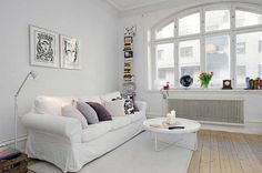 Simple -- lovely living room for a small apartment -- Swedish