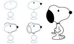 How to draw Snoopy