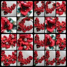 Crochet necklace. Poppy collection part 2 with by OurHealingArt, $50.00
