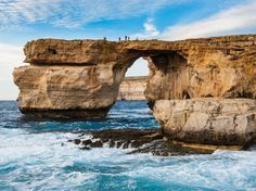 Daenarys and Khal Drogo's wedding scenes were filmed at the stunning Azure Window in Malta. GAME OF THRONES Travel Guide Khal Drogo, State Forest, Forest Park, Malta, The Places Youll Go, Places To Go, Game Of Thrones, Natural Bridge, Bay City