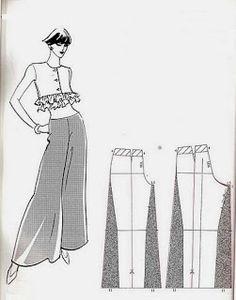 Oooo, I want pants like this! - - - Diy pantalón con tela fina