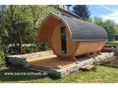 Learn more at the site above click the highlighted bar for even more selections - two person sauna Outdoor Areas, Outdoor Structures, Barrel Sauna, Outdoor Sauna, Wooden Pallets, Glamping, Shelter, Project Ideas, Beach House