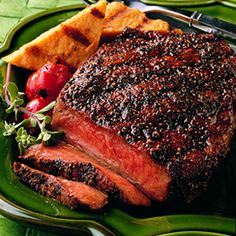 Blackened Rib Eye Steak With Creamy Horseradish Sauce