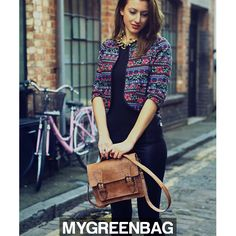 Need a new cool bag in your life?  We are in <3 with this cute new satchel. Get shopping while stocks last http://mygreenbag.co.uk/  MGBxx