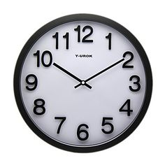 relógio de parede clássico no metal - Y-Urok