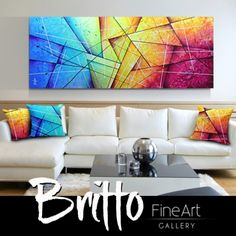 Quadros Abstratos Decorativos 180cm x 70cm QB193