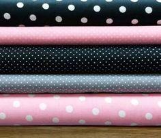 Stoffpaket Baumwolle rosa-grau-schwarz,
