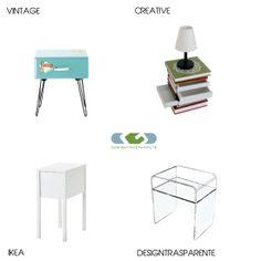 Comodino in plexiglass moderno | Arredamento in plexiglass | Pinterest