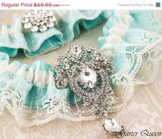 I think I found my something blue :) Bridal garter set SOMETHING BLUE Wedding Garter set by GarterQueen, $53.99