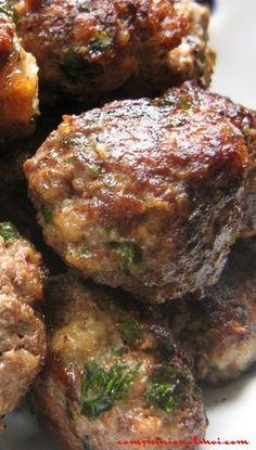 Boulettes de bœuf - The Best Mexican Recipes Haitian Food Recipes, Best Mexican Recipes, Serbian Recipes, Asian Recipes, Ethnic Recipes, Meatball Recipes, Meat Recipes, Dinner Recipes, Cooking Recipes