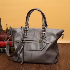 Women Genuine Leather Stylish Zipper Handbag Shoulder Bags Crossbody Bags