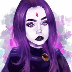 New post on thepurpleinternetprincess Teen Titans Raven, Teen Titans Fanart, Teen Titans Go, Dc Heroes, Comic Book Heroes, Starfire And Raven, Raven Beast Boy, Original Teen Titans, Boy Post