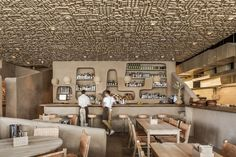 Outdoor Restaurant Design, Restaurant Interior Design, Bar Design Awards, Textured Walls, Mexico, Instagram, House, Home Decor, Ceilings