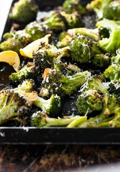 This roasted broccoli is the BEST broccoli you will ever have! So simple to make, yet so unbelievably delicious. Another genius Ina Garten recipe!