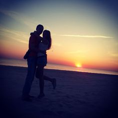 #couple #cute #love #sunset #awesome #gf #bf