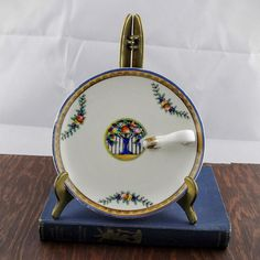 Vintage Noritake Plate with Handle Hand Painted by LoAndCoVintage