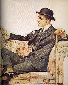 J.C. Leyendecker - Arrow Collars Ad: Sofa Part 1 / Mamluke.                                Un de mes préférés !
