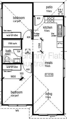 Granny Flat On Pinterest Granny Flat Plans Floor Plans