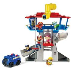 Nickelodeon, Paw Patrol - Look-out Playset 1 Lookout Tower, 1 Chase Figure, 1 Vehicle. Keep a look-out for danger with the Paw Patrol Look-Out Playset! Paw Patrol Pups, Paw Patrol Tv Show, Paw Patrol Lookout, Paw Patrol Badge, 4 Year Old Boy, Christmas Gifts For Kids, Christmas 2016, Christmas Ideas, Holiday Gifts