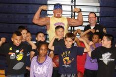 Pro Wrestling Legend Hulk Hogan shows his support for California PAL!